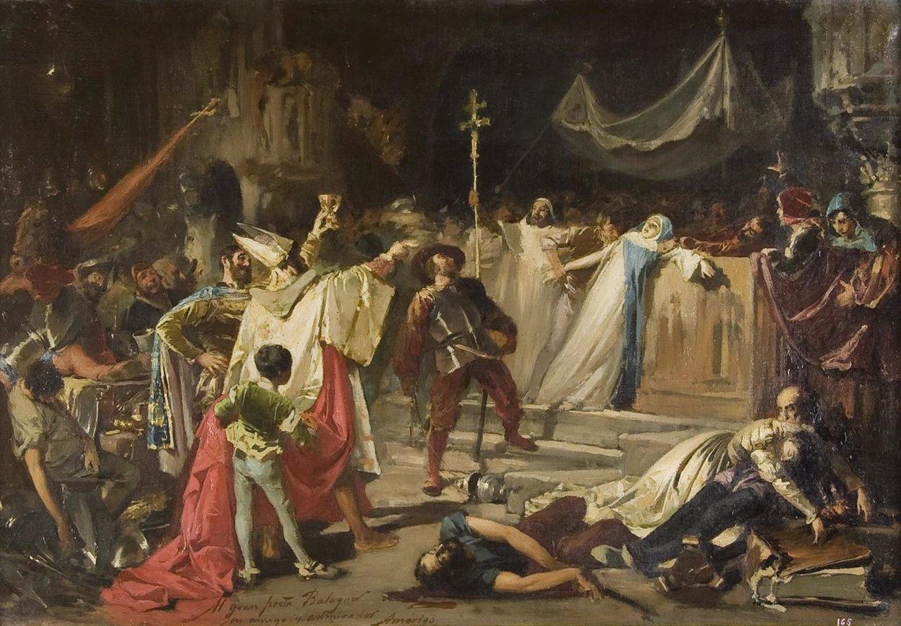 Cuadro del saqueo de Roma por el ejército de Carlos Rey Emperador