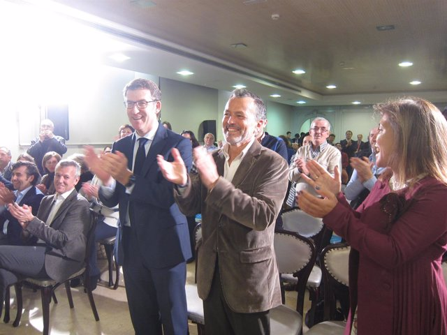 Alberto Núñez Feijóo y Agustín Hernández (PP)