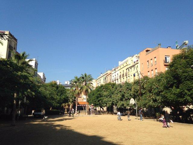 Espacio verde en Barcelona