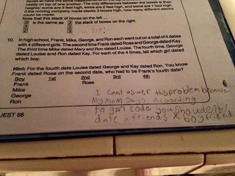 Niña de 4º grado dio la respuesta más inesperada a un problema de matemáticas