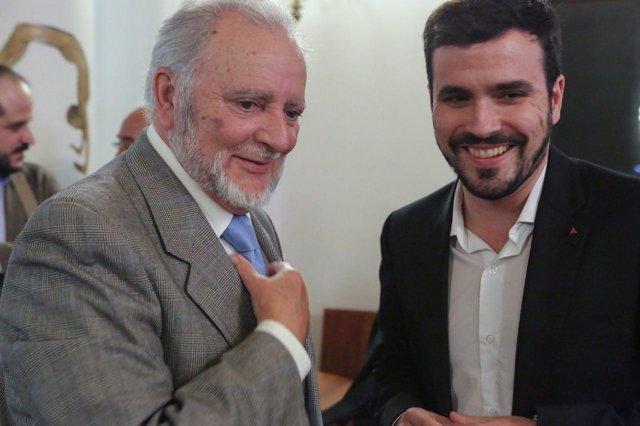 Julio Anguita y Alberto Garzón