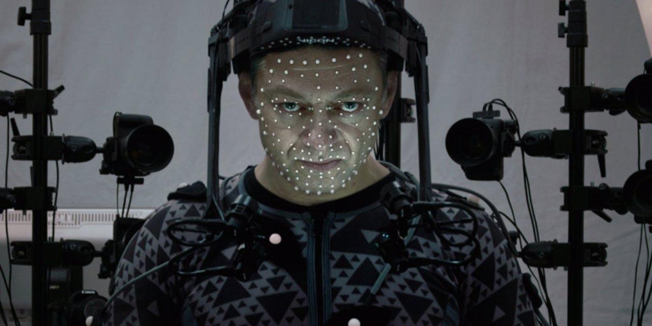 Andy Serkis en el rodaje de Star Wars 7
