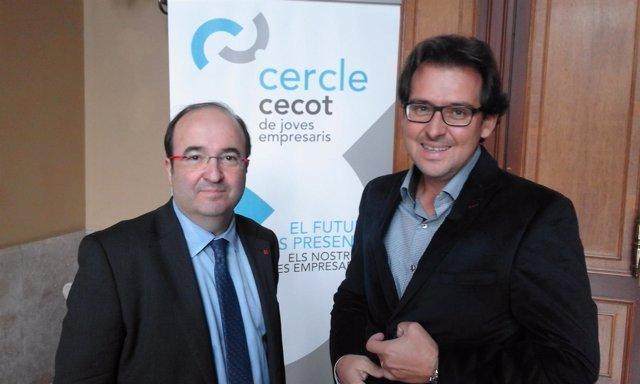 Miquel Iceta (PSC) y Santi Fontseca (Cecot)