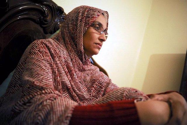 La activista saharaui Aminetu Haidar.
