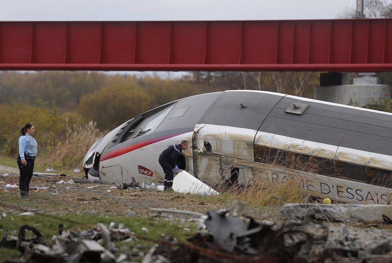 Descarrila un tren TGV en pruebas cerca de Estrasburgo