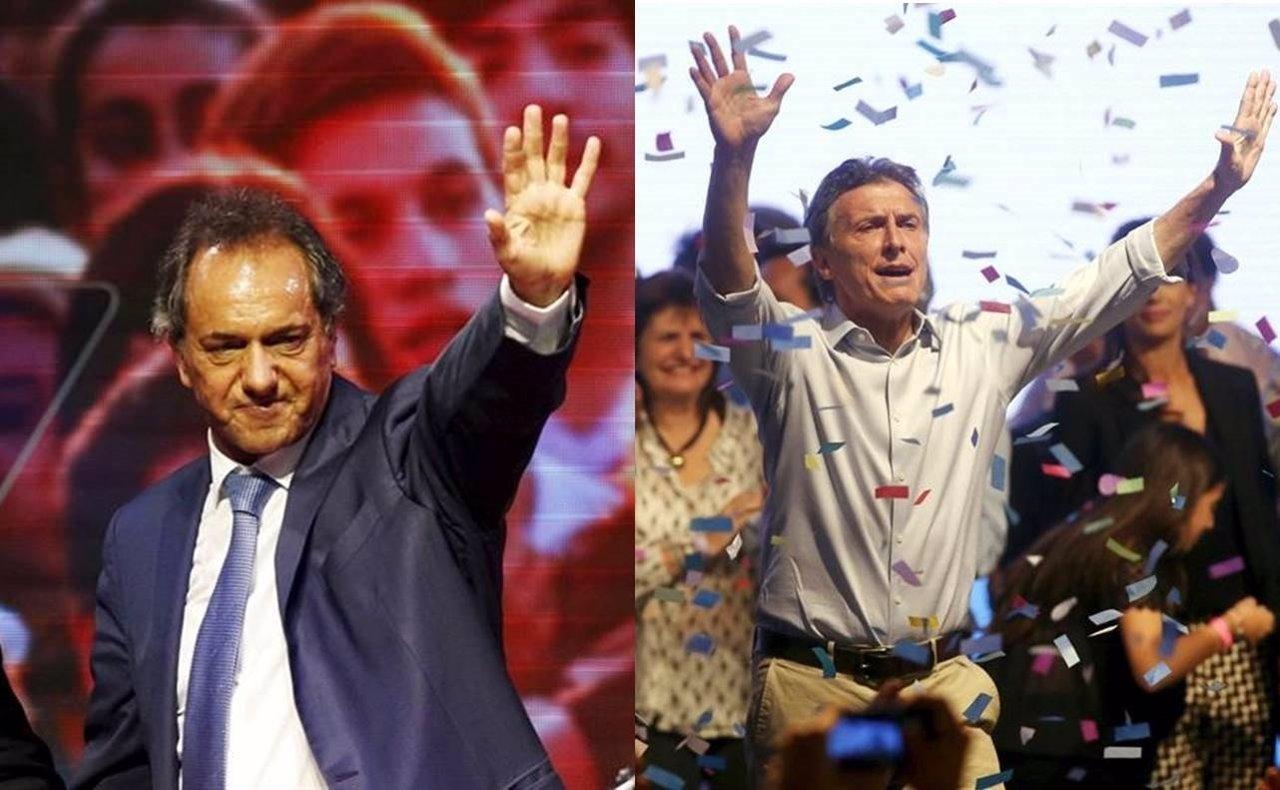 El Oficialista Daniel Scioli Y El Opositor Mauricio Macri