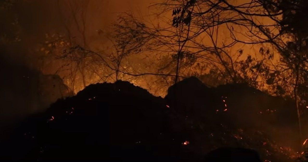 Chapada Diamantina, incendio en el parque natural en Bahía