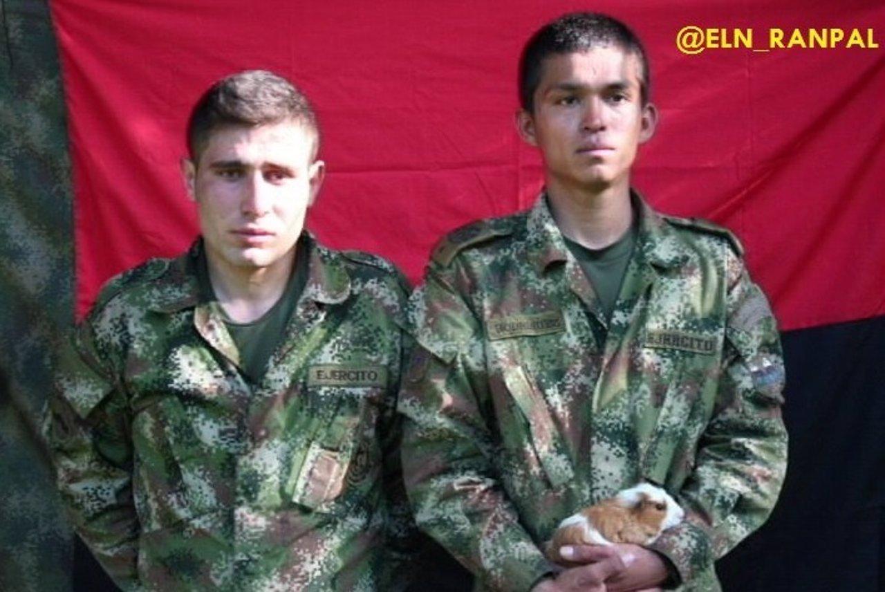 Soldados colombianos secuestrados por el ELN