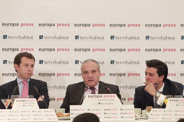 Julián Cabanillas, Ismael Clemente y Juan Velayos
