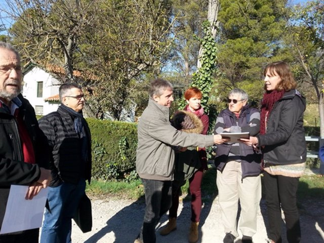 La concejal de Medio Ambiente Teresa Artigas, en Yesa