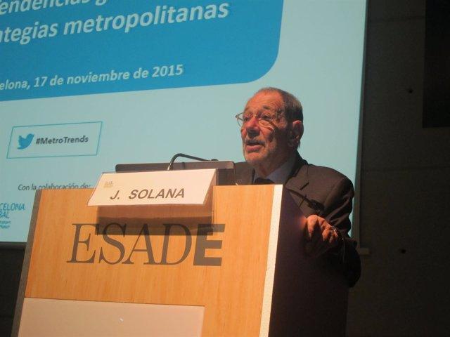 El exsecretario general de la Otan, Javier Solana