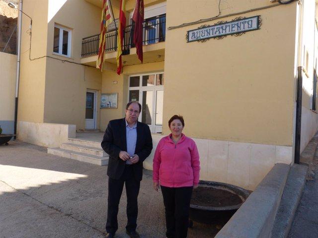 El concejal delegado de barrios pedáneos de Teruel visita San Blas
