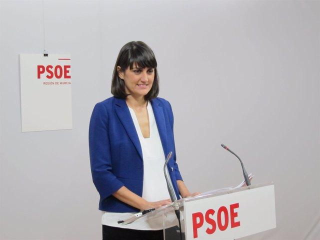 La Cabeza De Lista Del PSOE Al Congreso Por La Región De Murcia, María González