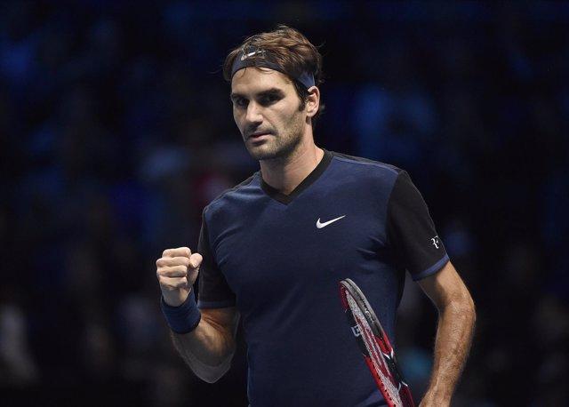 Roger Federer en el torneo de maestros
