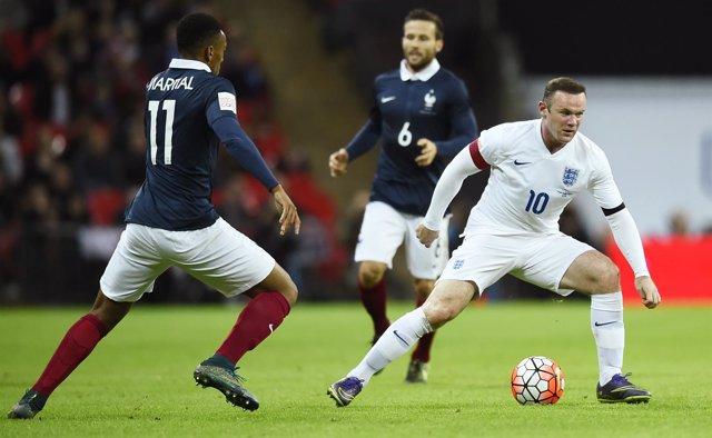 Wayne Rooney, con la selección inglesa, ante Francia