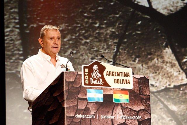 Etienne Lavigne, director del Rally Dakar