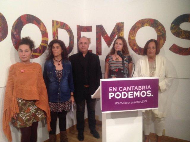Miembros de las candidaturas de Podemos al Congreso y al Senado