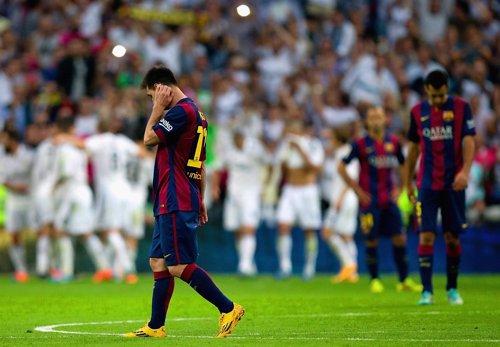 Lionel Messi en el Santiago Bernabéu