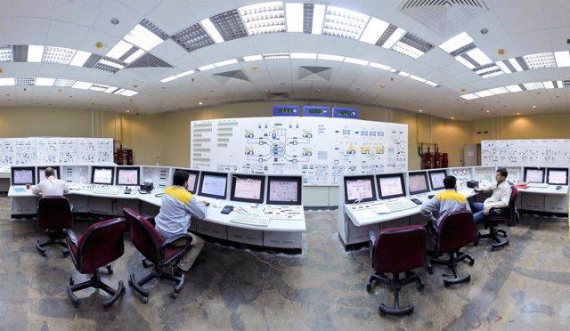 Interior de la central nuclear iraní de Bushehr