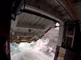 Armada de México apoya rescate de náufragos cubanos
