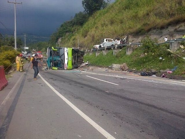 Accidente de autobús en Colombia