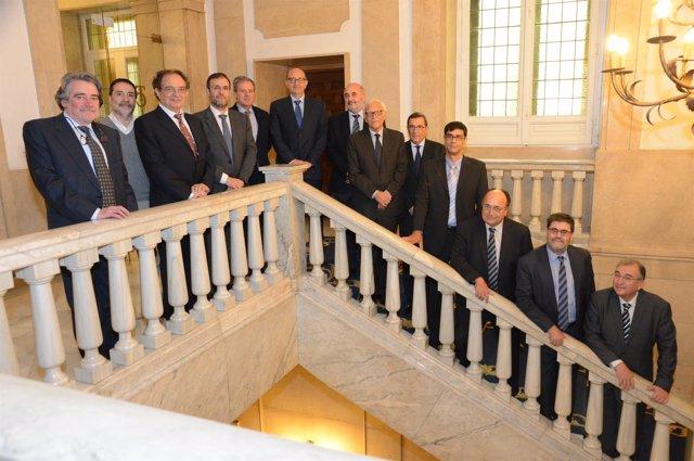 Ramón Álvarez de Miranda y presidentes de tribunales de cuentas autonómicos