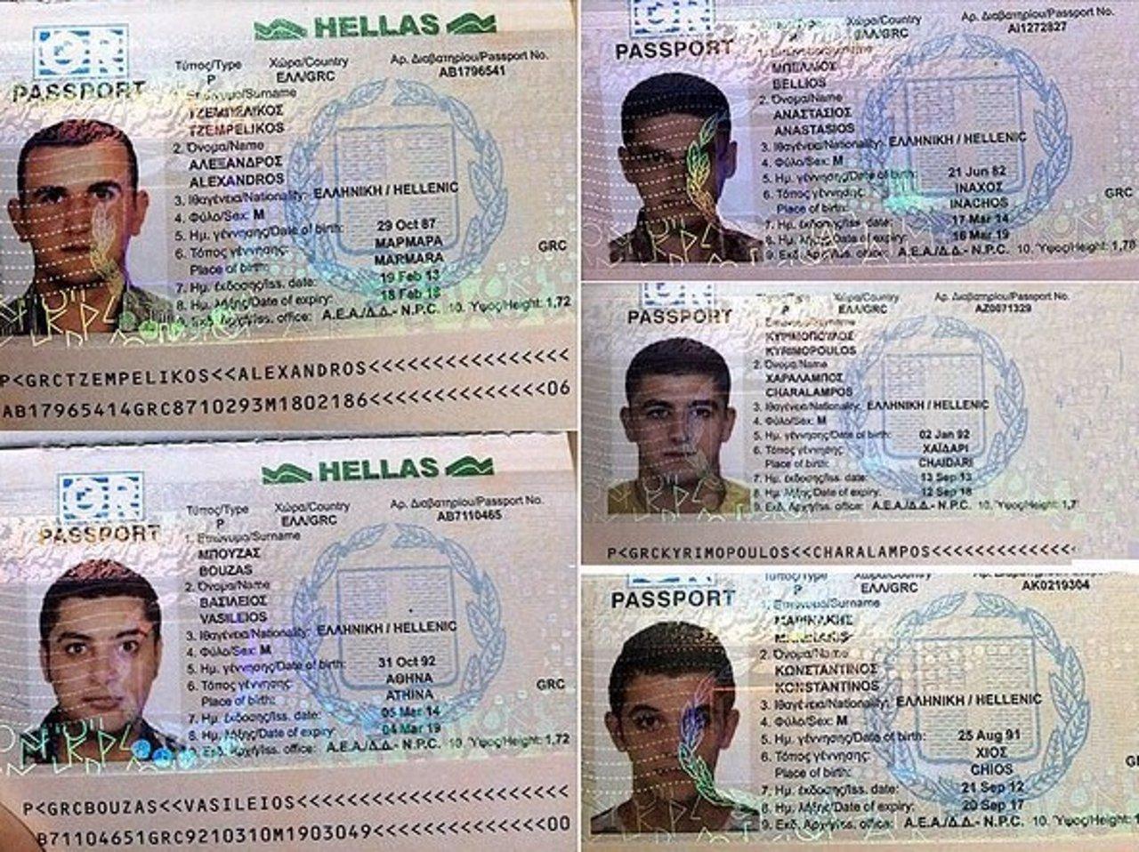 Cinco sirios con pasaportes robados en Grecia
