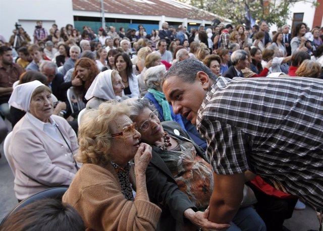 Abuelas de Plaza de mayo y Horacio Pietragalla