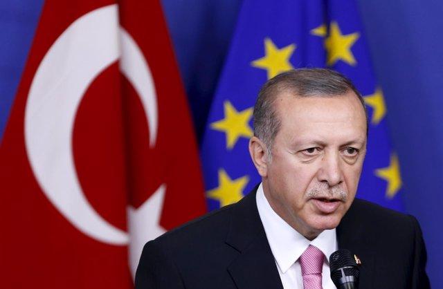 Recep Tayyip Erdogan en Bruselas
