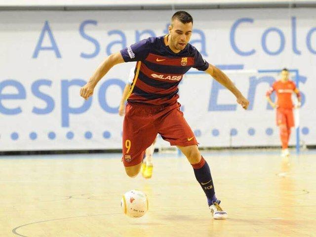 Sergio Lozano, jugador del FC Barcelona de fútbol sala