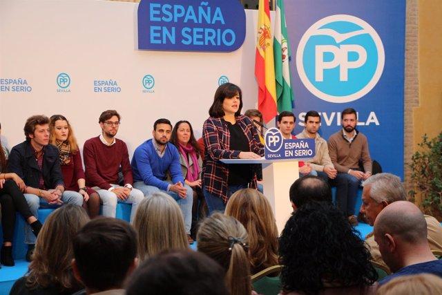 La secretaria general del PP de Sevilla, Virginia Pérez