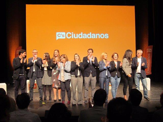 El líder de C's, A.Rivera, I.Arrimadas, M.Rivera, B.Villacís, entre otras