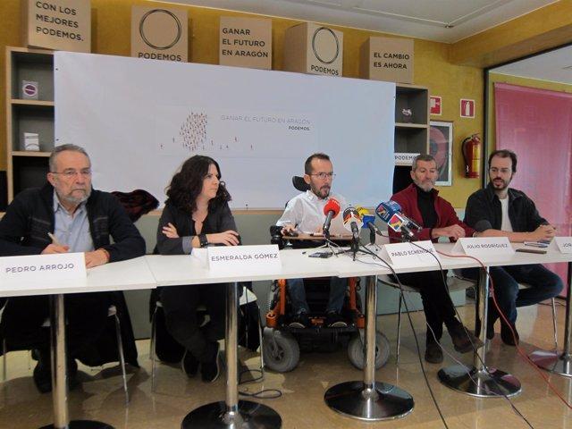 Presentación de las listas de Podemos al Congreso y Senado.