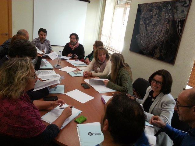 Reunión sobre la Estrategia de Desarrollo Urbano Sostenible e Integral en Huelva