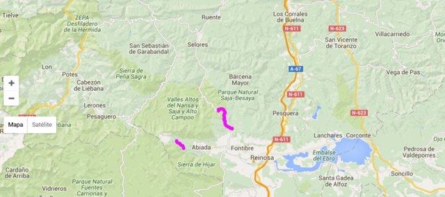 Tramos con cadenas en Cantabria