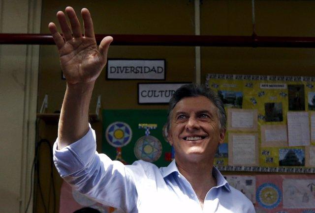 El candidato a la presidencia de Argentina Mauricio Macri