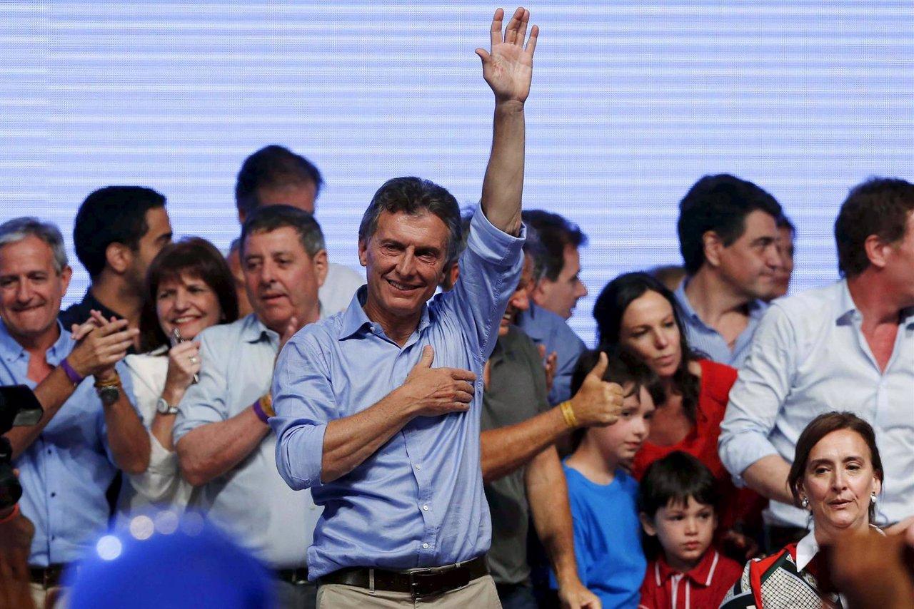 Mauricio Macri tras su victoria en las presidenciales en Argentina