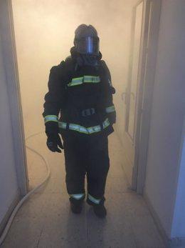 incendio humo bombero