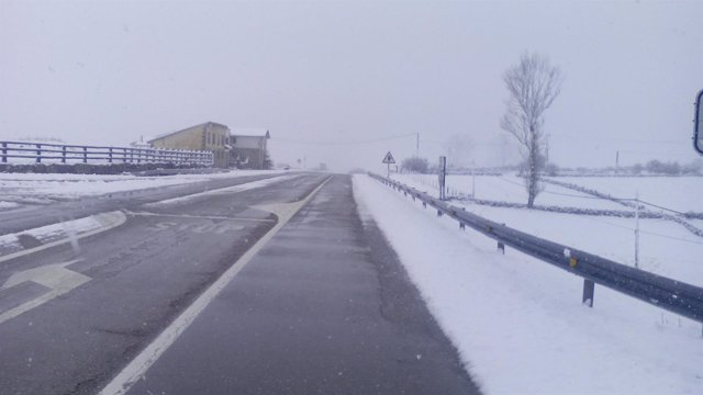 Carretera nevada de Cantabria