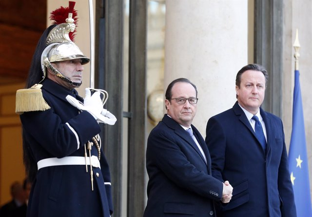 Francois Hollande y David Cameron