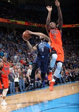 Serge Ibaka en el Oklahoma City Thunder - Dallas Mavericks