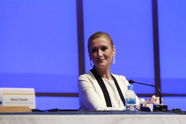 Cristina Cifuentes en el Congreso del Partido Popular Europeo