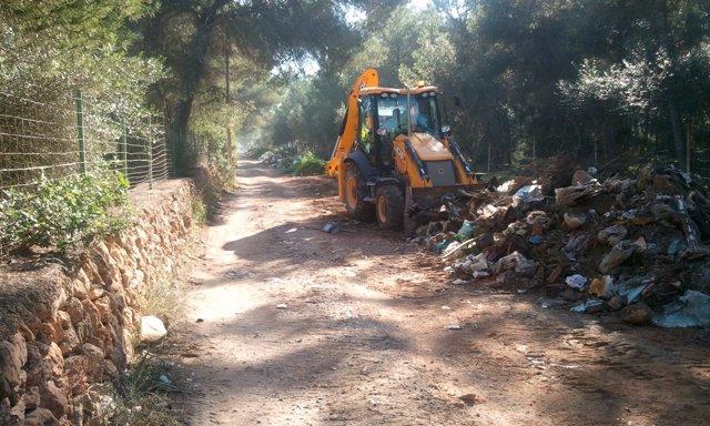 Trabajos de desmantelamiento en Son Olivaret