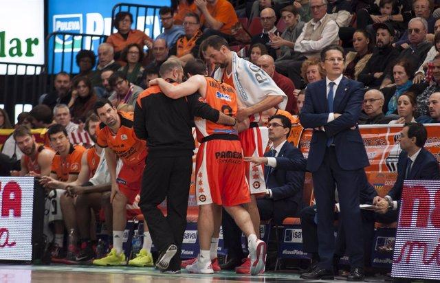 Sam van Rossom lesionado (Valencia Basket)