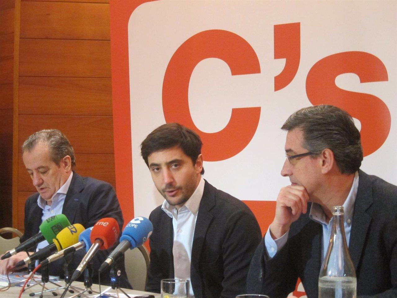 Nicanor García, Toni Roldán y Nacho Prendes (Ciudadanos)