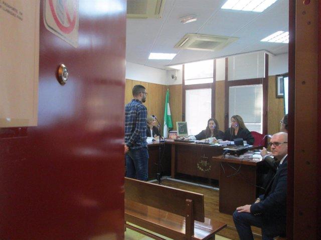 El estudiante de la UJA declarando el día del juicio