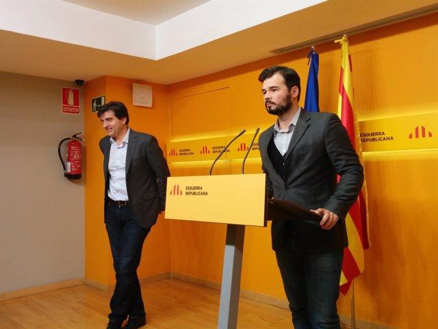 Sergi Sabrià, Gabriel Rufián (ERC)