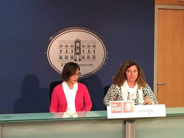 Pilar Costa en el Parlament