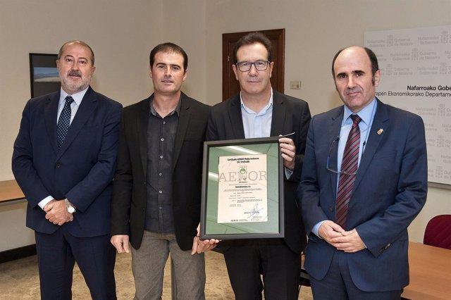 Emilio Flamarique, José Antonio Mariezkurrena y Miguel Echezarreta y Manu Ayerdi