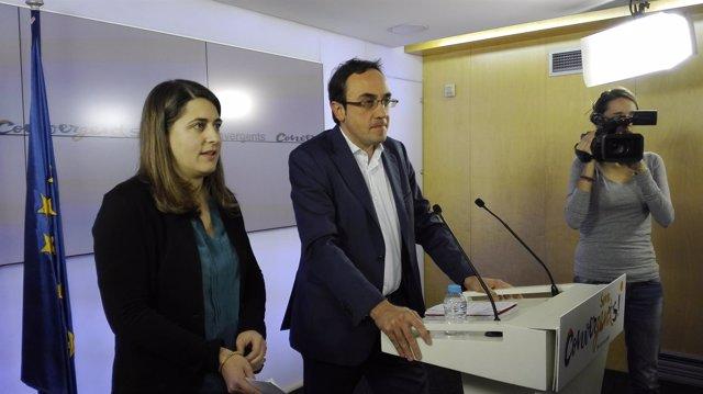 Marta Pascal, Josep Rull (CDC)